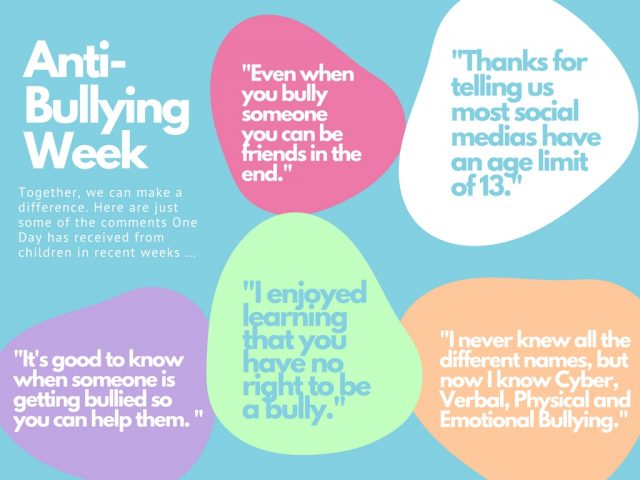 One Day Creative Anti-Bullying Week quotes