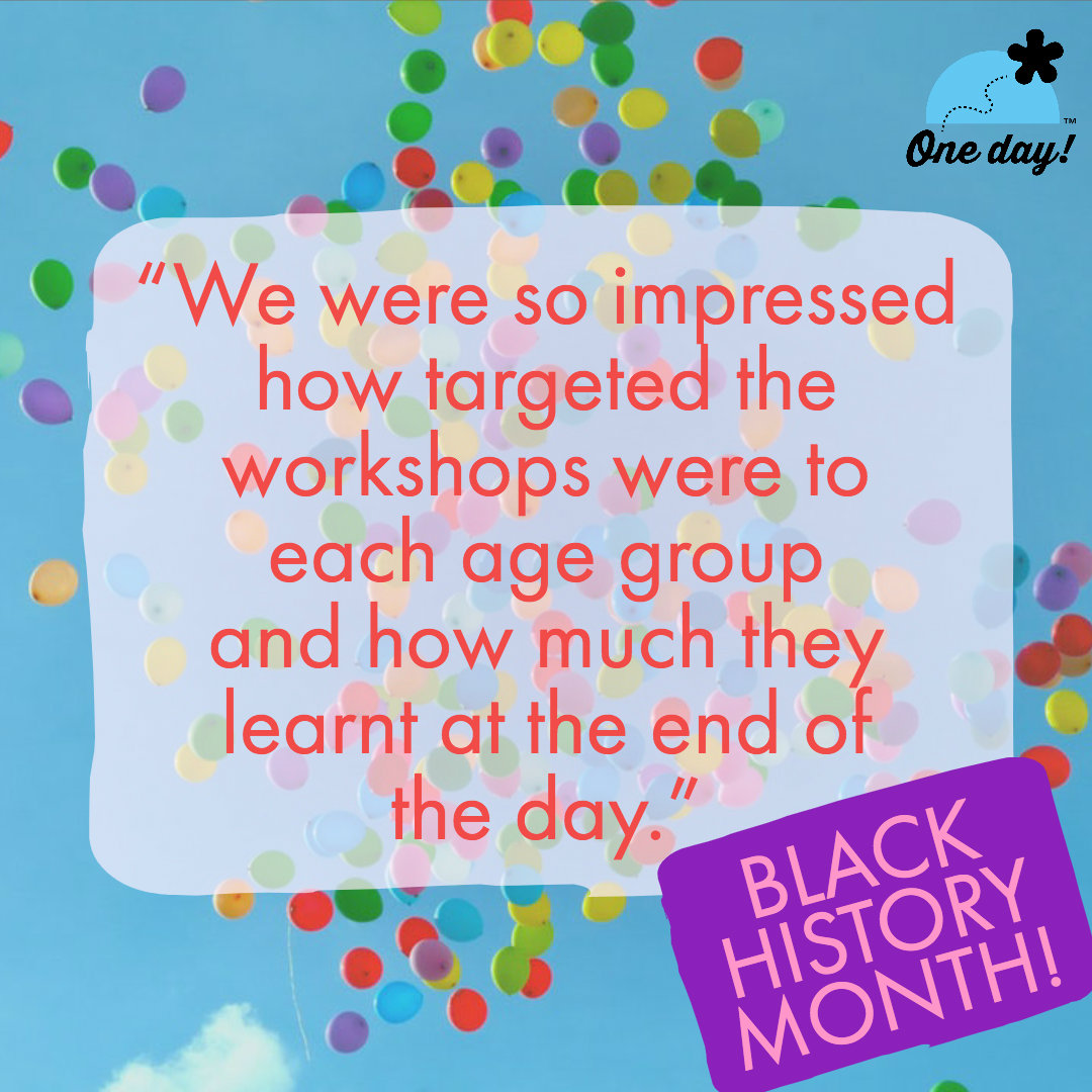 Half Term feedback One Day Creative Black History Month