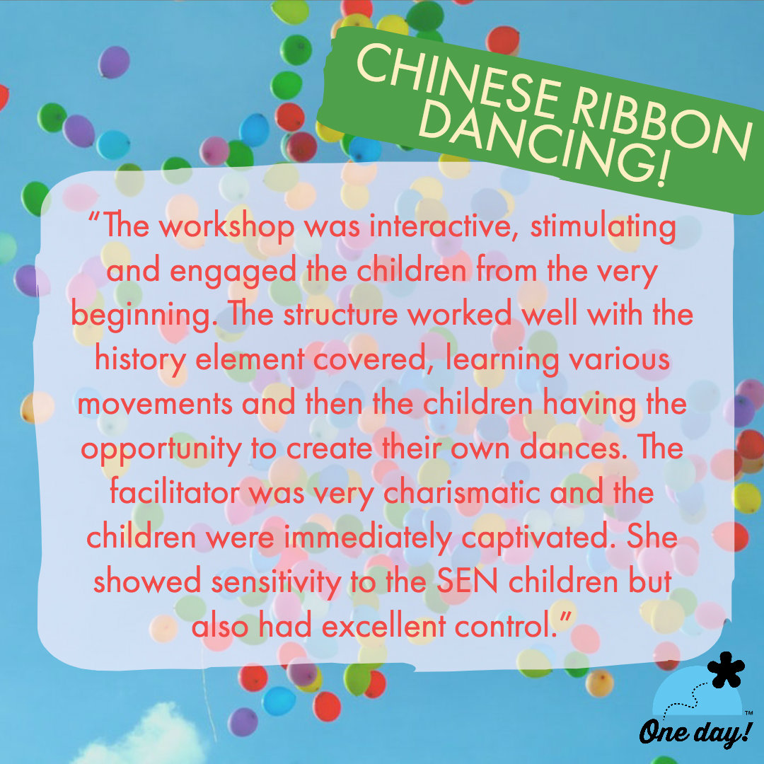 Half Term feedback One Day Creative Chinese Ribbon Dancing