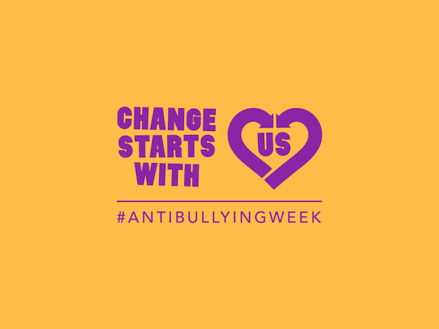 Anti-Bullying Week 2019 change starts with us school workshop