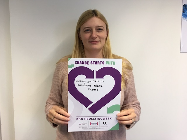 Jess's Anti-Bullying Week 2019 pledge: Change Starts With... Putting yourself in someone else's shoes