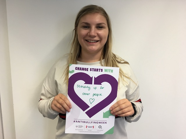 Emma's Anti-Bullying Week 2019 pledge: Change Starts With... Standing up for others