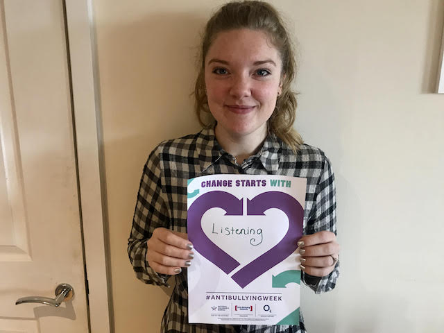 Melissa's Anti-Bullying Week 2019 pledge: Change Starts With... Listening