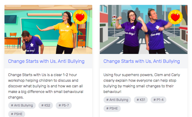 Uno is filled with teaching resources and videos, including Anti-Bullying Week activities