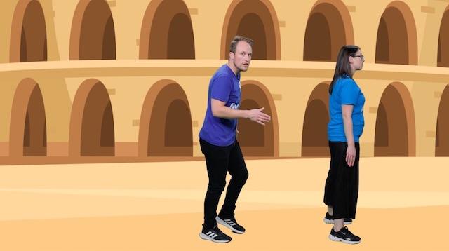 Play Caesar's Footsteps as part of your school Roman workshop