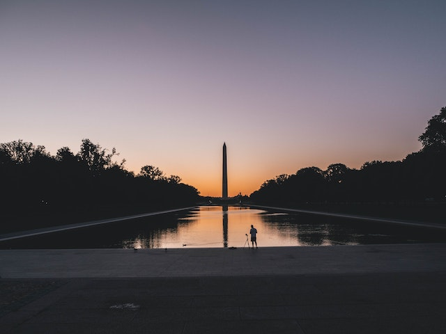 """The National Mall in Washington D.C. where Martin Luther King Jr delivered his """"I Have A Dream' speech"""