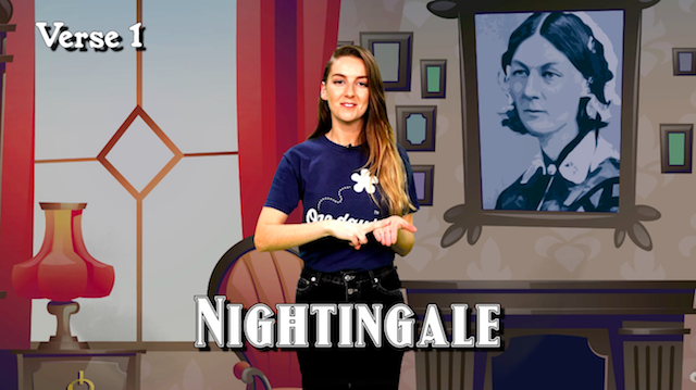 Learn a Florence Nightingale Makaton poem for World Poetry Day!