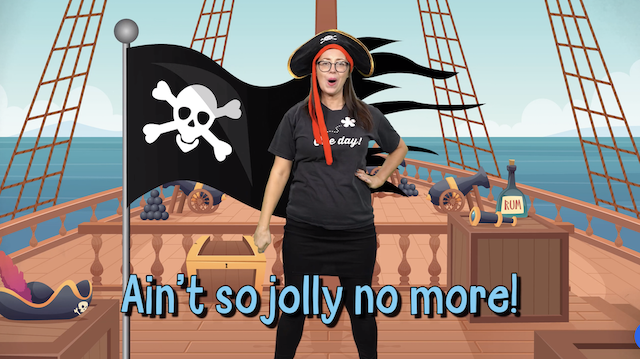 Sing about famous pirates in this KS1 activity for primary schools