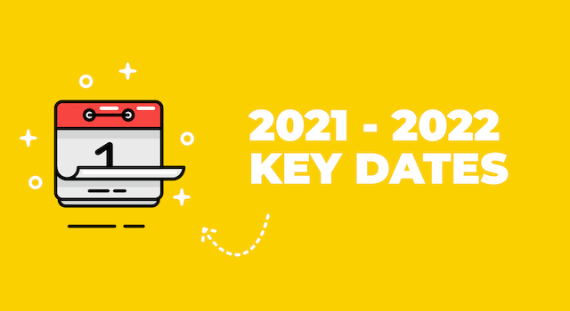 Important dates for schools - academic year 2021-2022